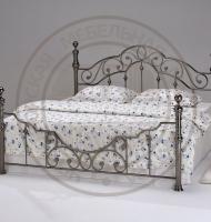 Кровать 9603 - 160x200 см-(цвет - Black Nickel - Черный Никель) BearAsia